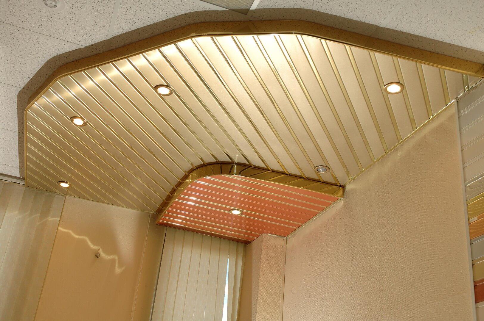 Реечные потолки для кухни своими руками